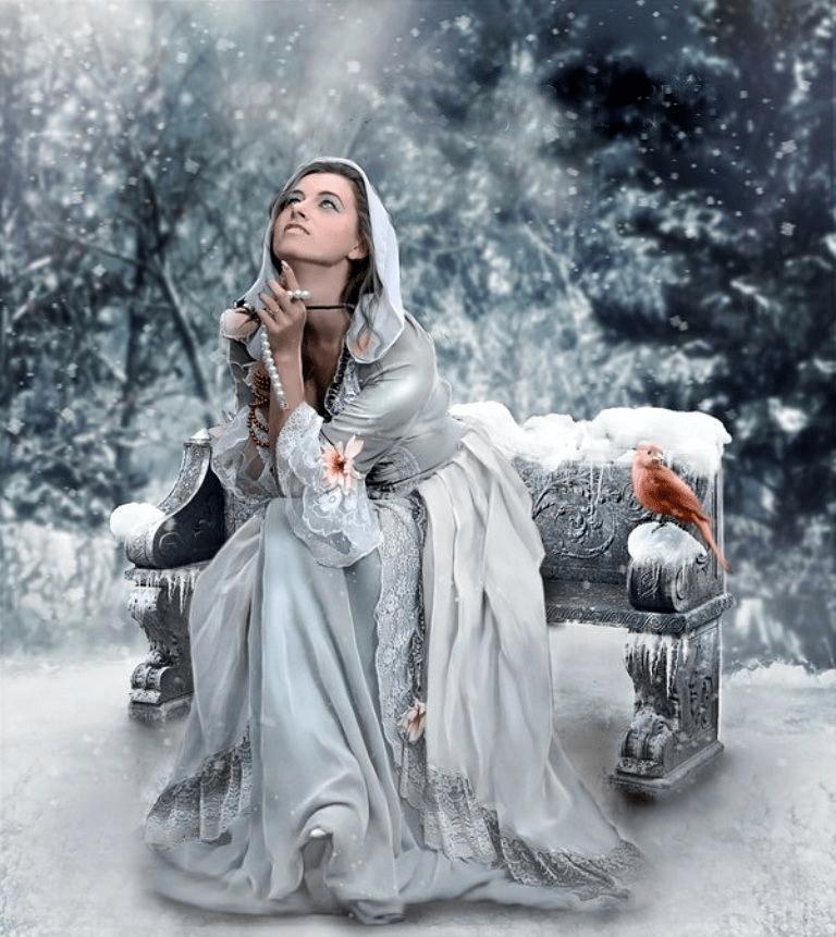 Молитва на снег для красоты.