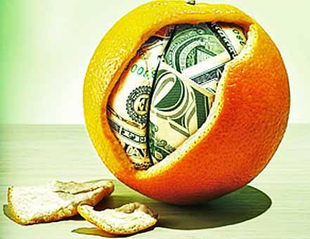 Апельсин для привлечения денег