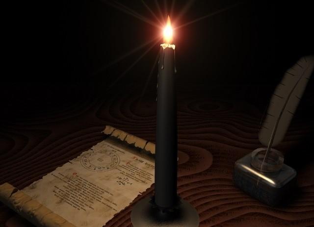 Отворот с черными свечами
